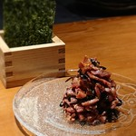 sousakuteppankonamonotoukyou - 炙りユッケ、特製昆布と共に