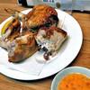 さ蔵 - 料理写真:若鶏半身揚げ(ブツ切りにしてもらいました)