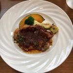 109632595 - 国産豚のロースのグリル  和風生姜ソース