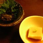 板そば 喜右衛門 - 蕎麦味噌と胡麻豆腐