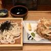 恵比寿山半 - 料理写真:かき揚げざるうどん