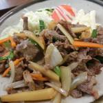 佐野和洋食店 - 料理写真:牛肉焼肉定食