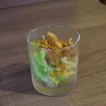 尾木カリー - トッピングを付けるとサービスで頂けるサラダ