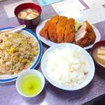 居酒屋定食 えきこ - 料理写真:チャーハン大盛り+カツライス