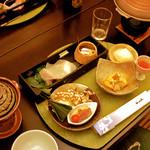 里湯昔話・雄山荘 - 料理写真:掘りごたつの個室で頂く京風会席コース。