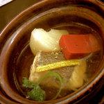 里湯昔話・雄山荘 - -炊合せ- 鯛かぶら鍋。