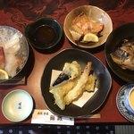 鮨政 - 鮨政御膳=2300円 税別 ご飯 味噌汁は後からでの提供