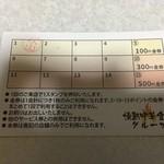 情熱中華食堂 炎 - ポイントカード(裏)