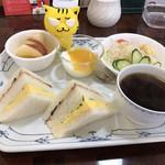 喫茶 フローラ - サンドイッチモーニング510円(税込)