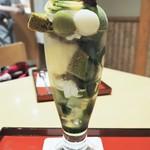 茶房こいし - 友達の選んだ抹茶シフォンパフェ
