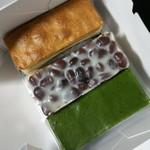 洋菓子舗 茂右衛門 - 3種買ってみました。上から見ると和菓子にしか見えない。