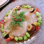 109681582 - 魚のカルパッチョ1800円                       7切れ でした(*´◒`*)