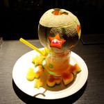 セルブロック - メロン丸ごとフルーツカクテル(キャンドル入り)