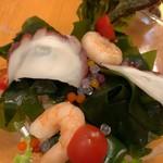 ビヤホールライオン - 三陸産ワカメとタコ・海老のサラダ仕立て