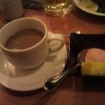 神辺の台所 ほくろ - ミニ懐石御膳 食後のデザートとドリンク
