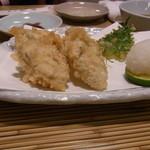 築地 布恒更科 - 牡蠣天ぷら 今年は三重県産