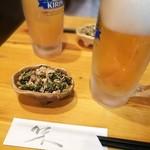 居酒屋 万喜 - つきだし 250円 これも美味しい!