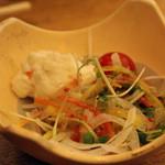 寿々家 - セットのサラダ。<2011_12>