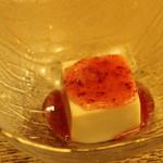 寿々家 - セットのデザート。ミルクプリン。<2011_12>