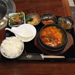 平壤亭 - 豆腐チゲランチ  ¥980