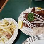 109704548 - 白菜炒めとレバ唐揚げ