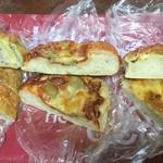NOBU Cafe - チーズクッペ、トマグリフォカッチャ、バジルチーズ-断面