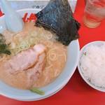 山岡家山形西田店 - 醤油ラーメン 650円  半ライス 120円