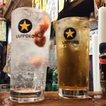居酒屋 ゆうちゃん - ウメボシハイ500円に午後ティーハイ濃いめ550円