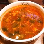 チェゴヤ - ユッケジャンスープのアップ。