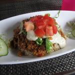 kukuru cafe - 肉のかわりに島豆腐が入ったヘルシータコライス