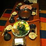 酒仙わたる - バームクーヘン豚のコラーゲン鍋コース