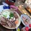 しい茸ランド かさや - 料理写真:若鶏コースでいただきまーす