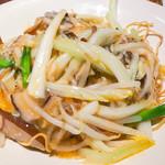 広東炒麺 南国酒家 - サンラータンのあんかけやきそば
