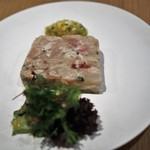 BISTRO INOCCHI - 豚足・海老・ドライトマトのテリーヌ(アラカルトで追加)