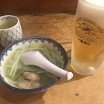 109752140 - テールスープとキリン 生(600円)