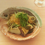 日本料理 晴山 - あわび、うに、稲庭うどん