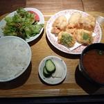 天ぷら酒場 NAKASHO - とり天ランチ(900円)