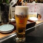 天ぷら酒場 NAKASHO - ブレモル(550円)