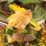 くすのき - 料理写真:本ミル貝とアラの炙り アスパラガス添え