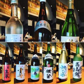 長野県の蔵元・日本酒を吟味。期間数量限定でご提供しています。