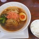 海老寿 DELUX - 海老醤油ラーメン&少ライス