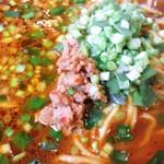 四季紅 - 黒ごま担々麺の具