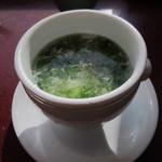 五穀五菜酒家 陸風 - 蟹と青のりのスープ