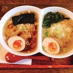 ラーメン厨房 ぽれぽれ - 料理写真:にこいちラーメン、醤油&塩