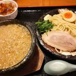 竹本商店☆つけ麺開拓舎 - 伊勢海老つけ麺(味噌)+かつおめし(小)