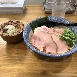 109782622 - 特製つけ麺N並1030円 チャーシュー丼250円