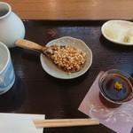 109783688 - 6月限定 あじさいセット1500円(税込)蕎麦は後から来ます(^O^)