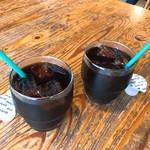 あしま園 - 美味しいアイスコーヒーも付きます。