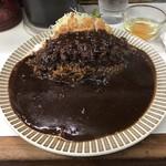 キッチン南海 - カツカレー+生玉子