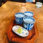 蕎麦 ふじおか - 蕎麦汁+山葵